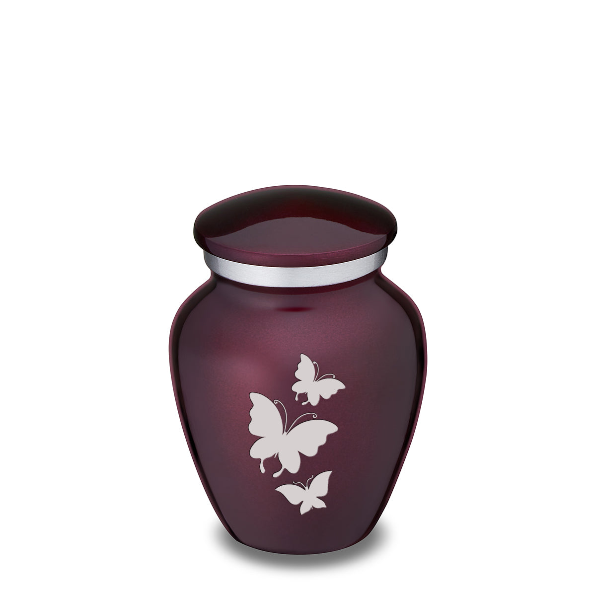 Keepsake Embrace Cherry Purple Butterflies Cremation Urn
