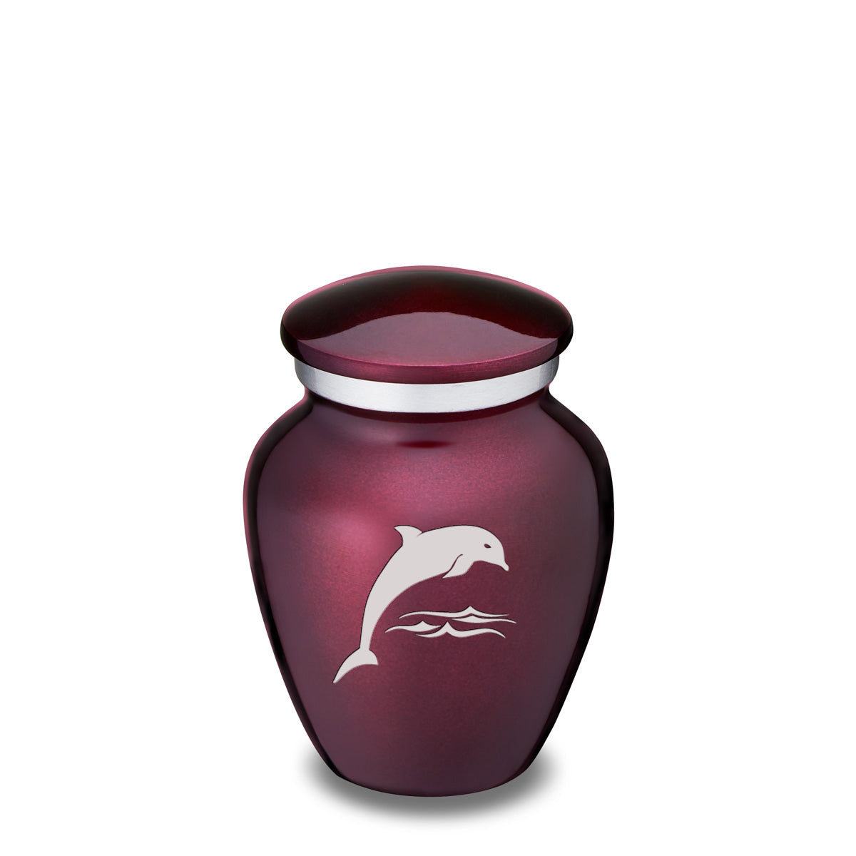 Keepsake Cherry Purple Embrace Dolphin Cremation Urn