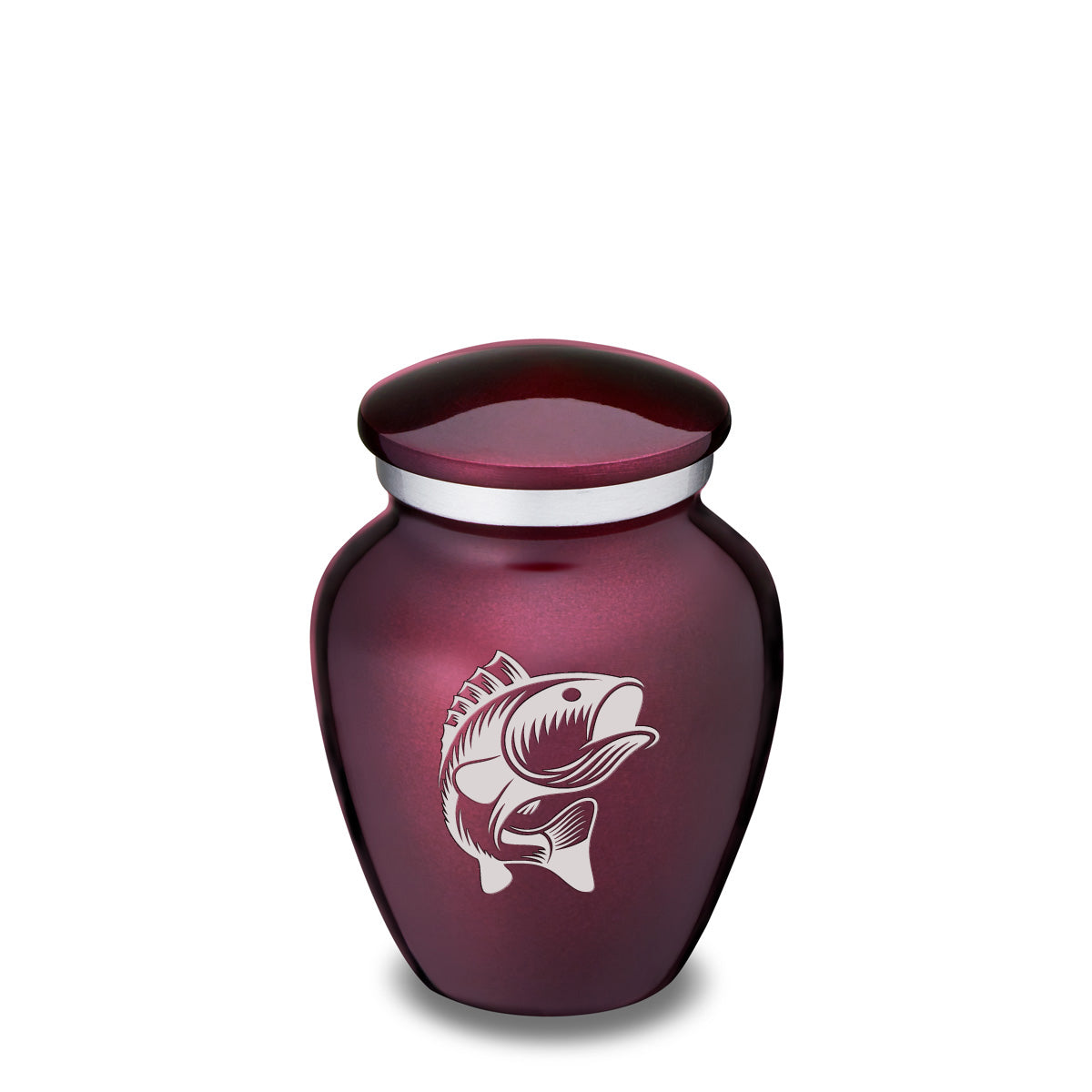 Keepsake Embrace Cherry Purple Fish Cremation Urn