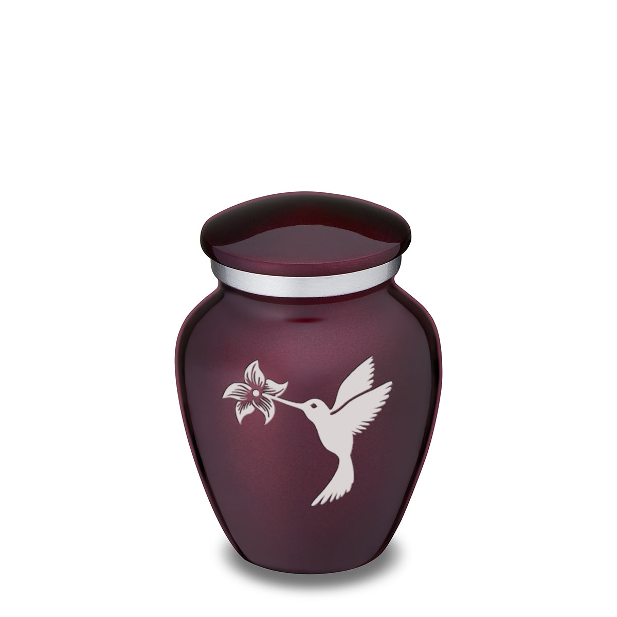 Keepsake Embrace Cherry Purple Hummingbird Cremation Urn