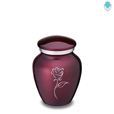 Keepsake Cherry Purple Embrace Rose Cremation Urn