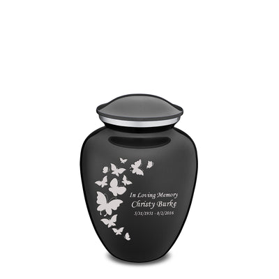 Medium Embrace Charcoal Butterfly Cremation Urn