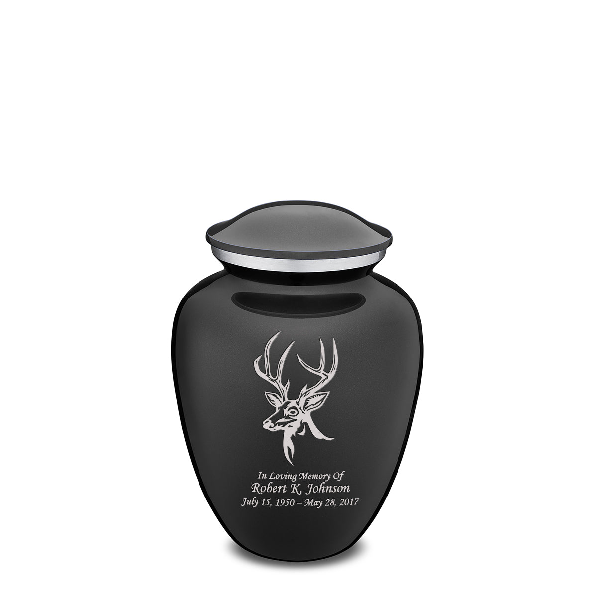 Medium Embrace Charcoal Deer Cremation Urn