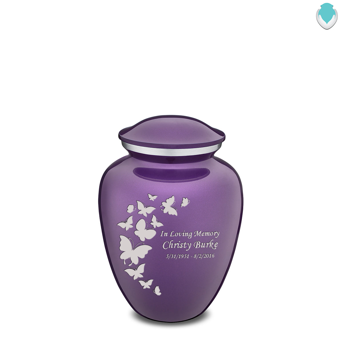 Medium Embrace Butterfly Cremation Urn