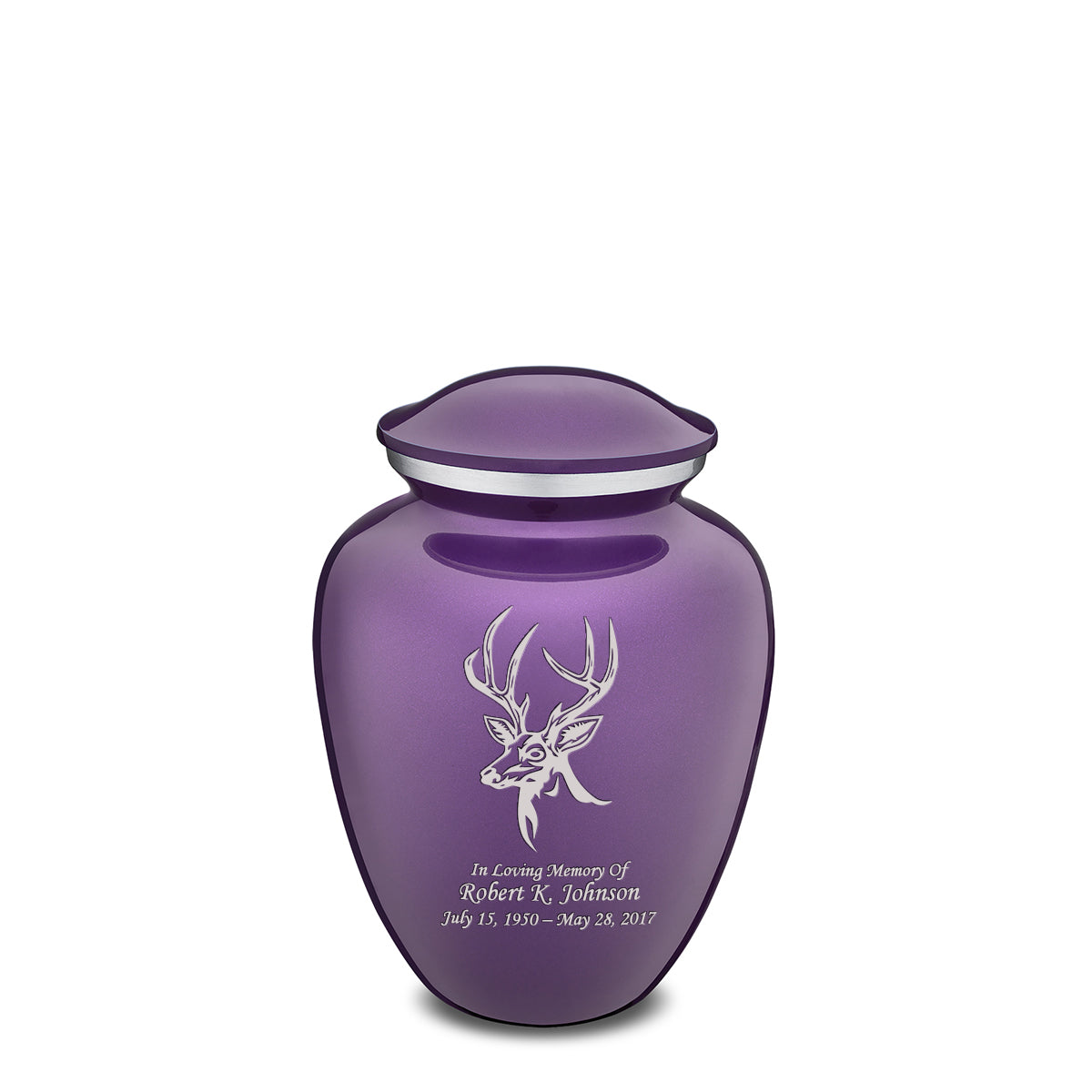 Medium Embrace Purple Deer Cremation Urn
