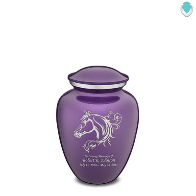 Medium Embrace Purple Horse Cremation Urn