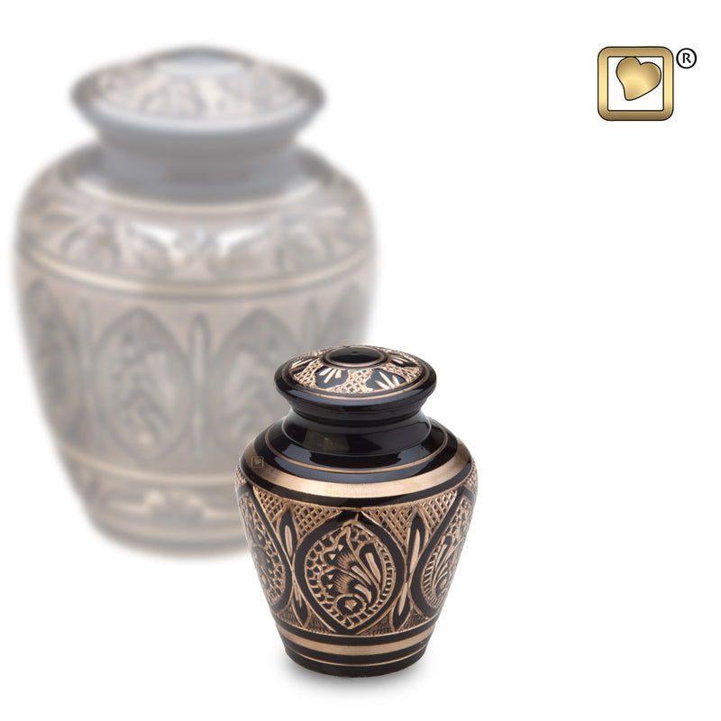 Keepsake Black & Gold Cremation Urn