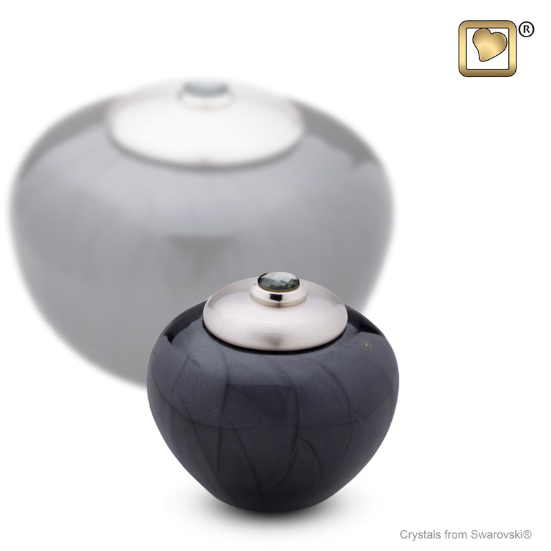 Keepsake Round Simplicity Midnight Pearl Cremation Urn