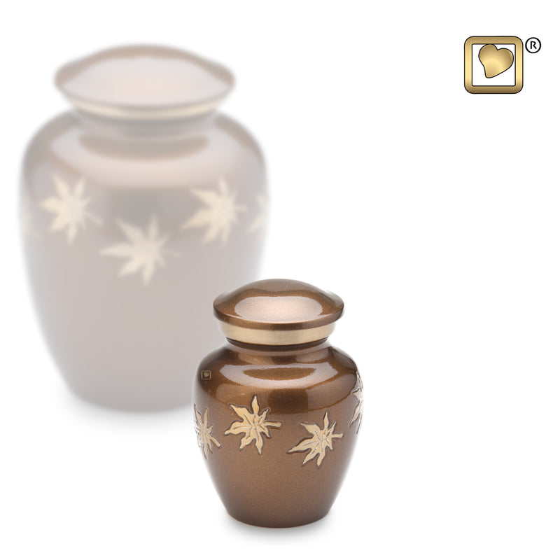 Keepsake Autumn Leaves Cremation Urn