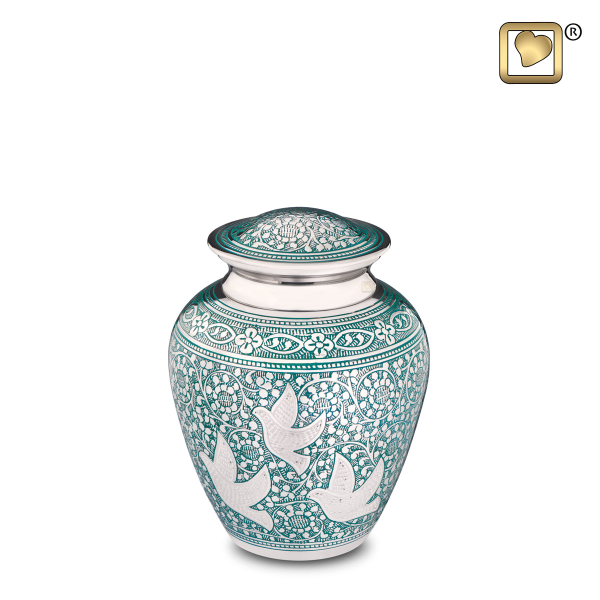 Medium Soaring Doves Cremation Urn
