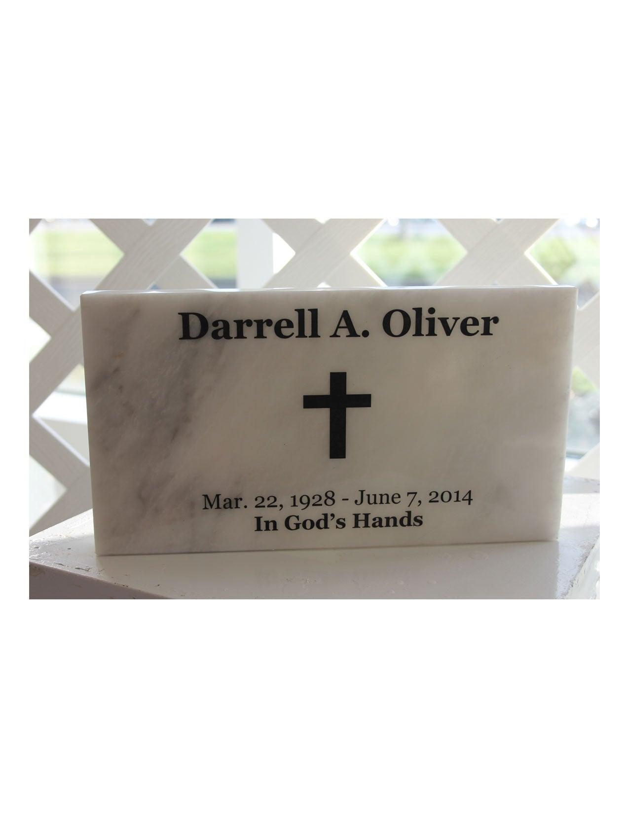 Grave Marker Antique White