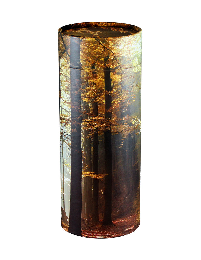 Adult Scattering Tube Autumn Woods Cremation Urn