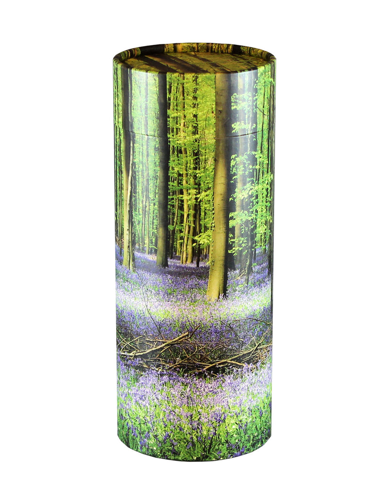 Adult Scattering Tube Bluebell Forest Cremation Urn