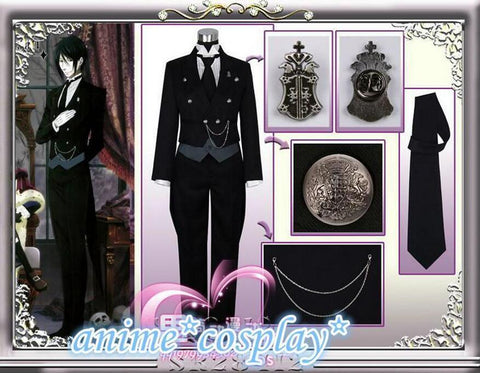 Black Butler - Sebastian Michaelis Cosplay Uniform & Accessories - Cosplayuniverse.de