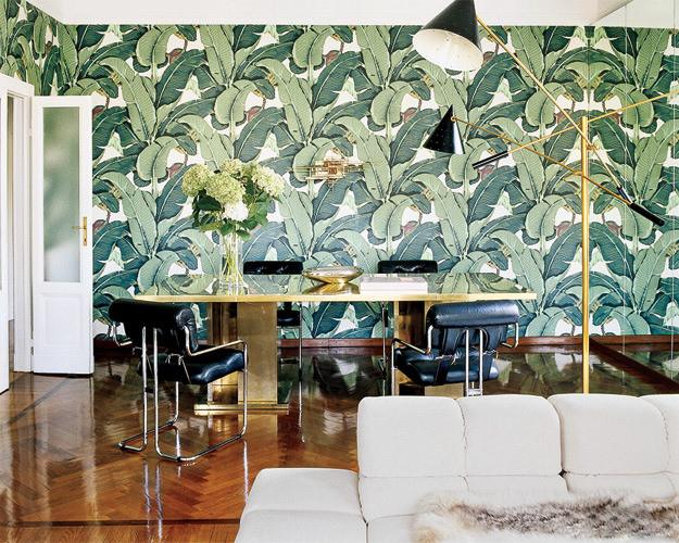 ELLE DECOR: Brian Atwood and Nate Berkus at their tropical home in Milan
