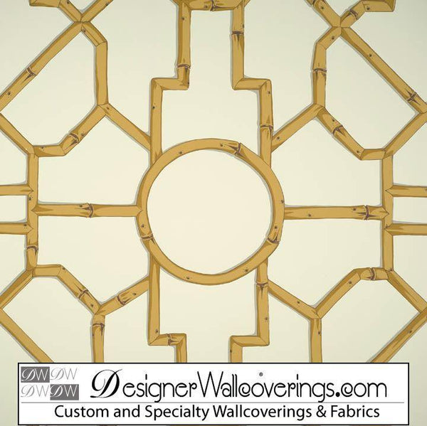 Regal Bamboo Lattice Trellis Wallpaper