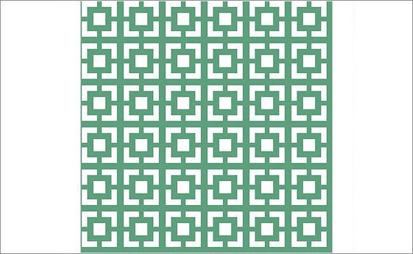 Natalia's Traditional Lattice - Green and White Wall Paper