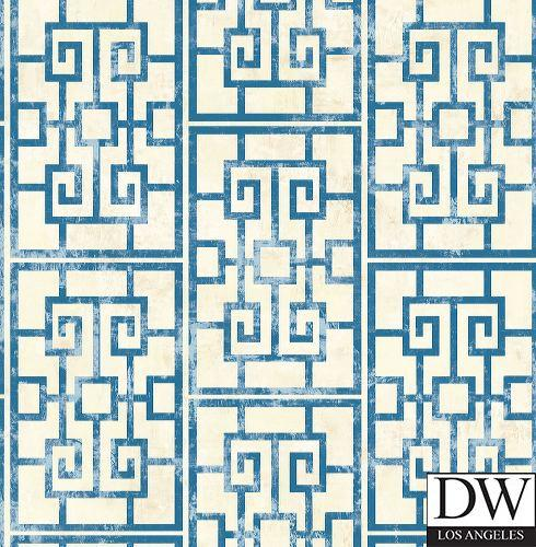 Oshima Faux Finish Greek Key Wallpaper