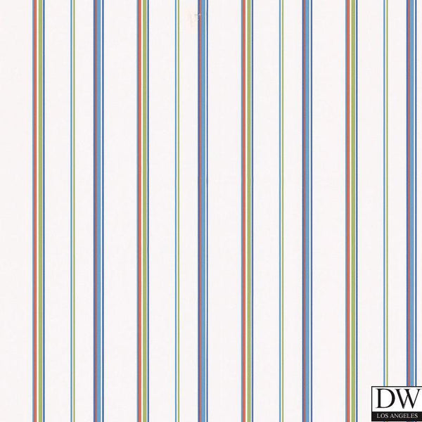 Barnstable Blue Stripes Wallpaper