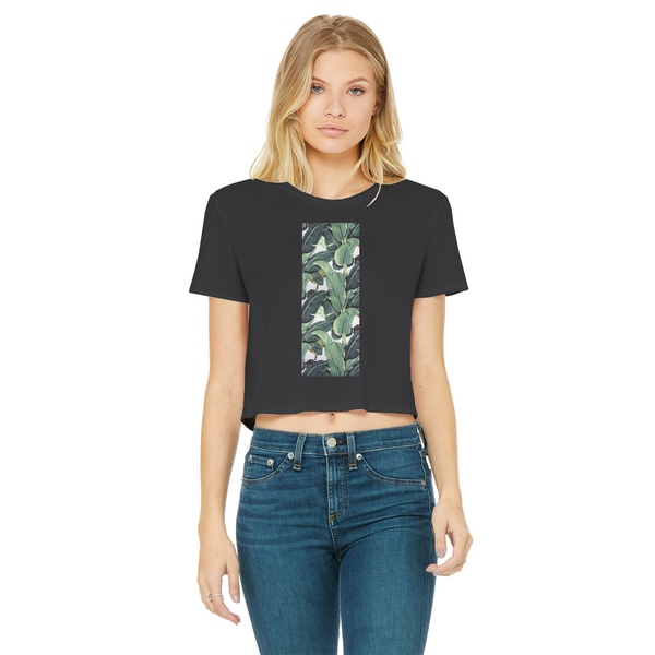 Beverly Hills Classic Women's Cropped Raw Edge T-Shirt