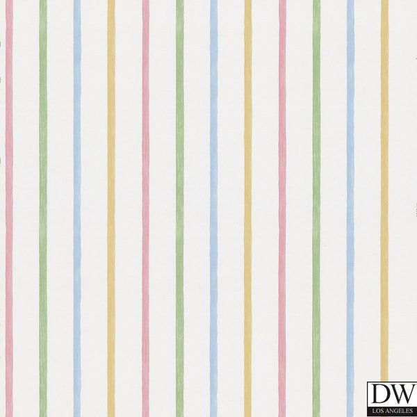Vineyard Multicolor Stripes Wallpaper
