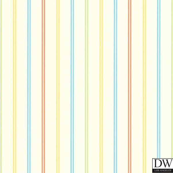 Candy Yellow Stripes Wallpaper