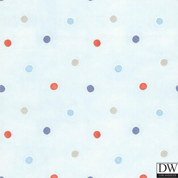 Sprinkles Light Blue Polka Dots Wallpaper