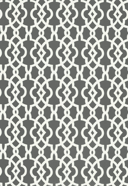 Spring Fret Traditional Lattice - Smoke charcoal Grey