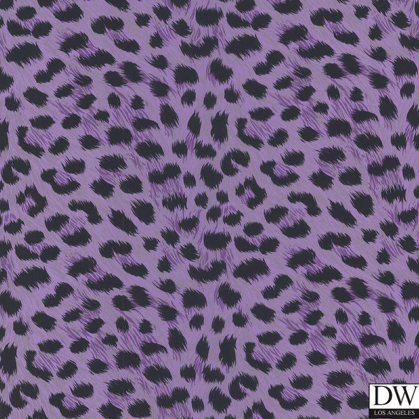 Kitty Purry Purple Leopard Print Wallpaper