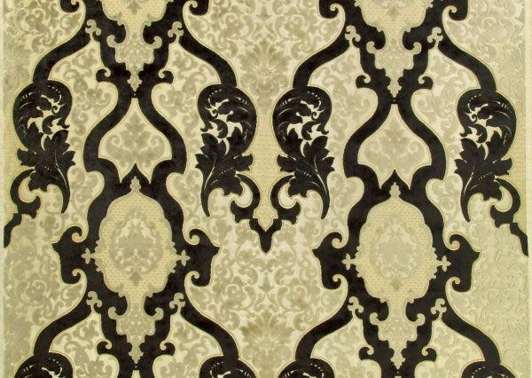 Rocco Damask Woven Velvet Jaqcquard Fabric