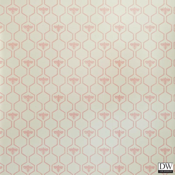 Honey Bees - Stone Cream - Wallpaper