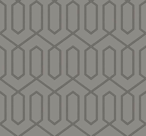 Emperor Dotted Trellis Glass Bead Wallpaper - Browns