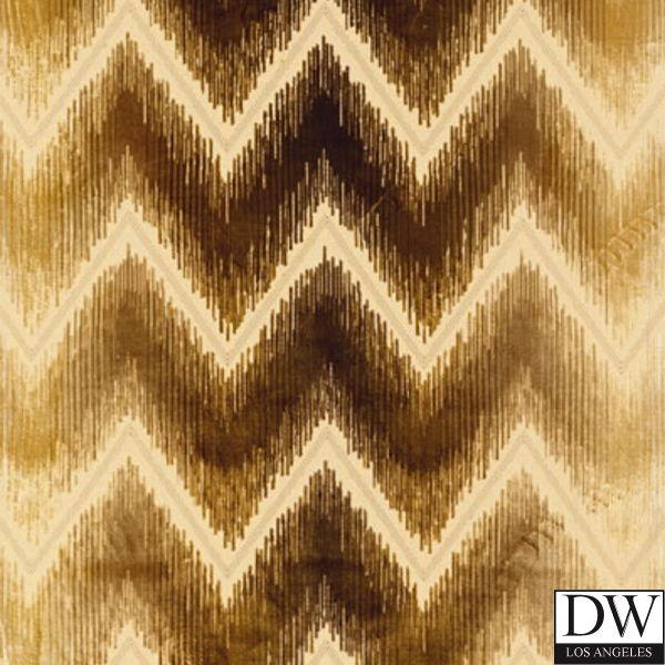 SHOCK WAVE Chevron Silk Velvet Fabric