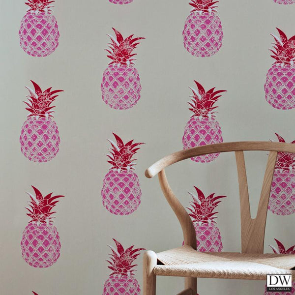 Pineapple - Wallpaper - Pink