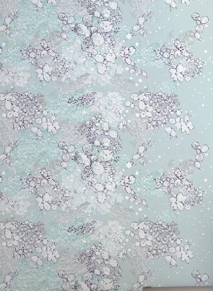 Petal Pond and Dotty Wallpaper Wallcovering