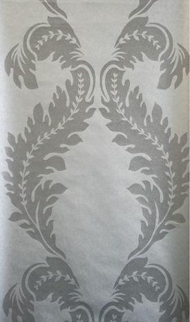 Parisian Pearl Damask Wallpaper