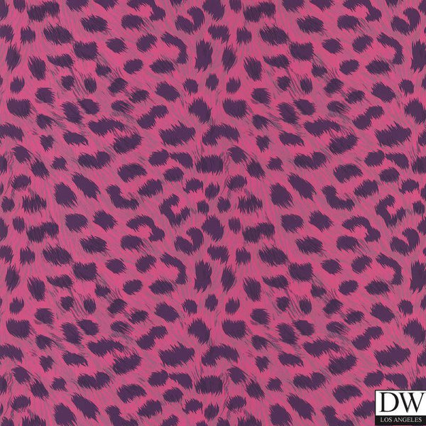 Kitty Purry Pink Leopard Print Wallpaper