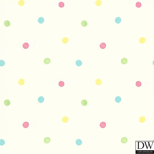 Sprinkles White Polka Dots Wallpaper