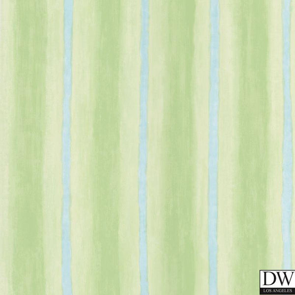 Aloha Green Ombre Stripe Wallpaper
