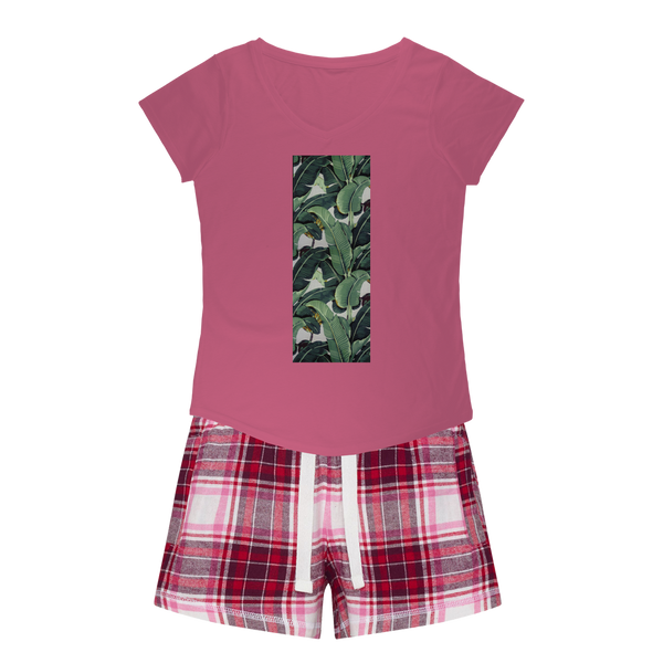Beverly Hills Girls Sleepy Tee and Flannel Short