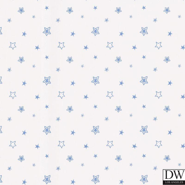 Merlin Light Blue Stars Wallpaper