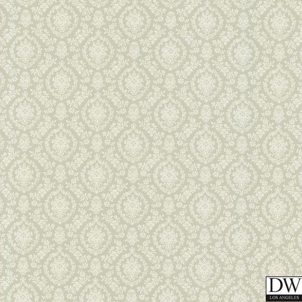Bella Green Damask Wallpaper