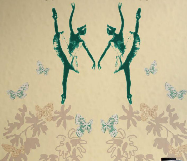 Ballet Bower - Coral Wallpaper Wallcovering