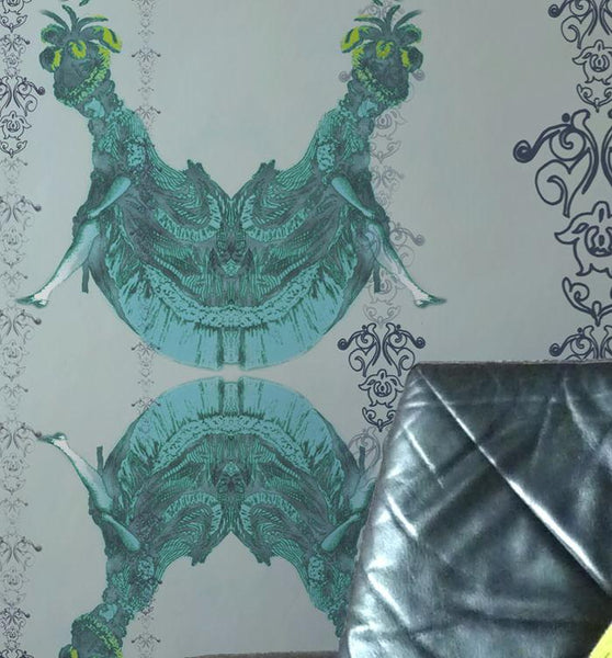 Magdalena Blue Wallpaper Wallcovering