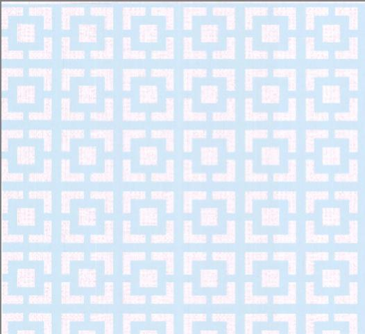 Natalia's Traditional Lattice - Light Blue and White Wall Paper