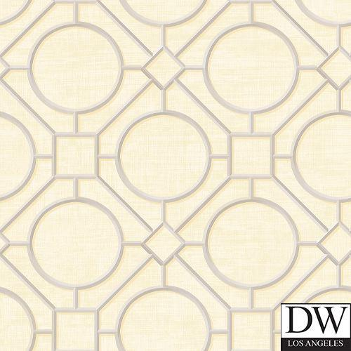 Rebun Island Lattice Trellis Wallpaper