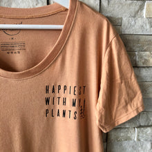 Load image into Gallery viewer, Happiest with my Plants - Women's Relaxed Fit Scoop T-Shirt