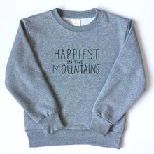 Load image into Gallery viewer, Happiest in the Mountains - TODDLER/YOUTH - Grey Unisex Classic Crewneck Sweatshirt