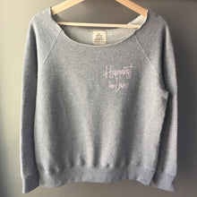 Load image into Gallery viewer, Happiest in Love - Women's Raw Edge Pullover