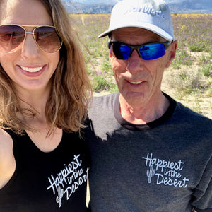 Happiest in the Desert - Bamboo + Organic Cotton Tank Top - BLACK